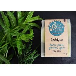 savon huiles essentielles menthe poivrée genévrier cyprès argile verte