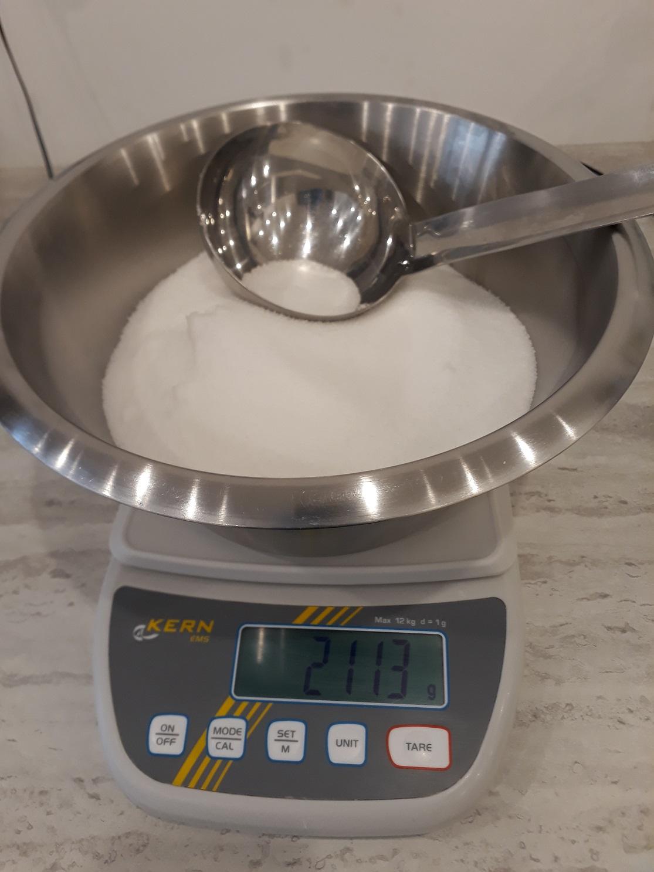 Pesé hydroxyde de sodium soude